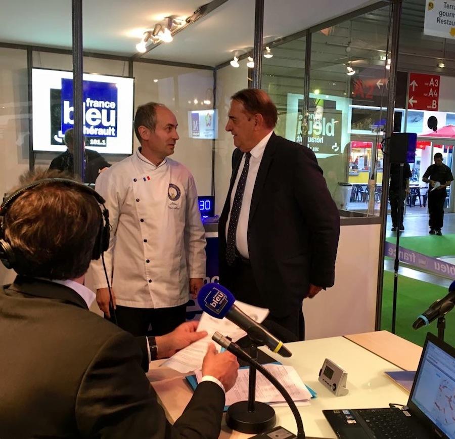 Le Chef Jérôme Billod-Morel sur France Bleu Hérault