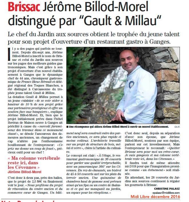Jeune Talent Gault & millau